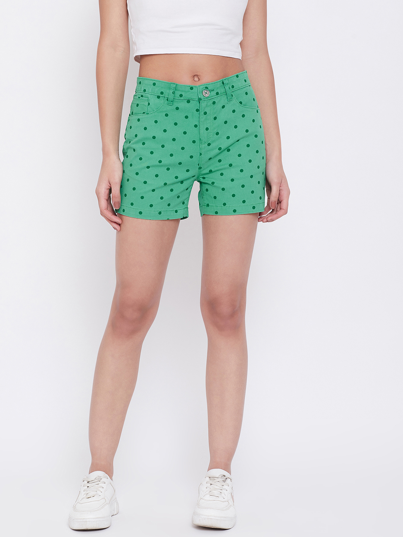 Crimsoune Club | Crimsoune Club Womens Green Printed Shorts