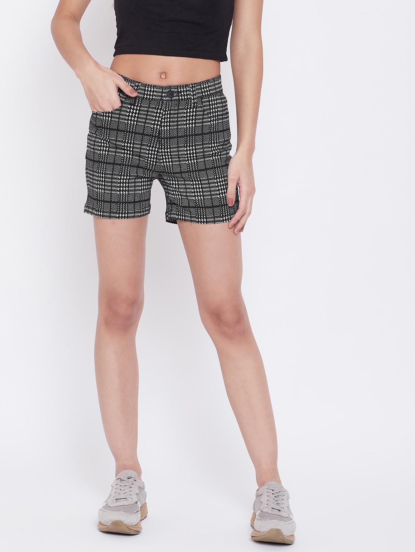 Crimsoune Club | Crimsoune Club Womens Black Printed Shorts