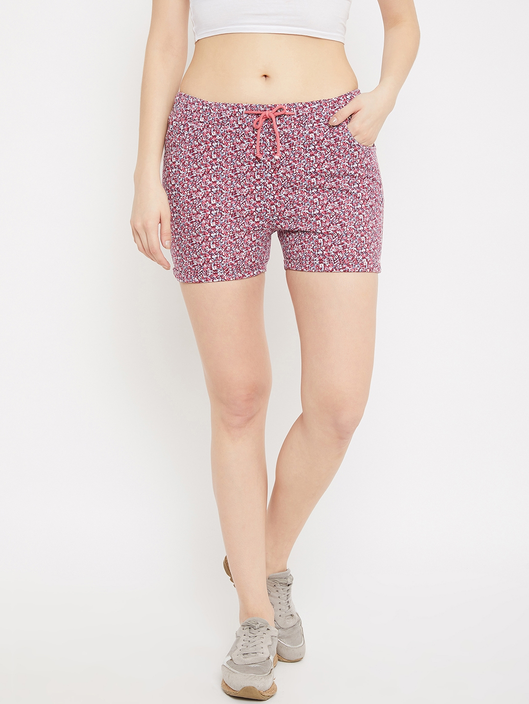 Crimsoune Club   Crimsoune Club Womens Pink Printed Shorts