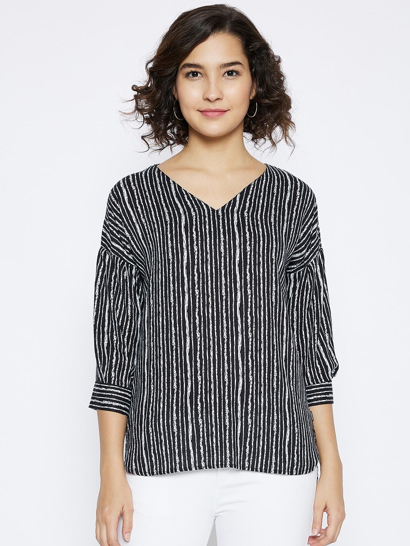 Crimsoune Club | Crimsoune Club Women's Black Striped  Top