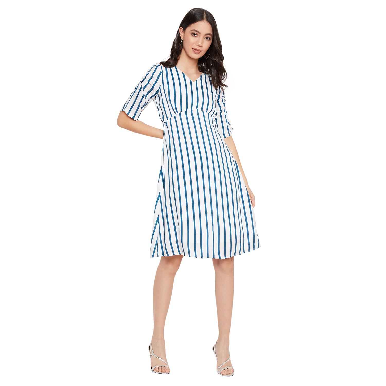 Crimsoune Club | Crimsoune Club Women's Blue Striped Dress