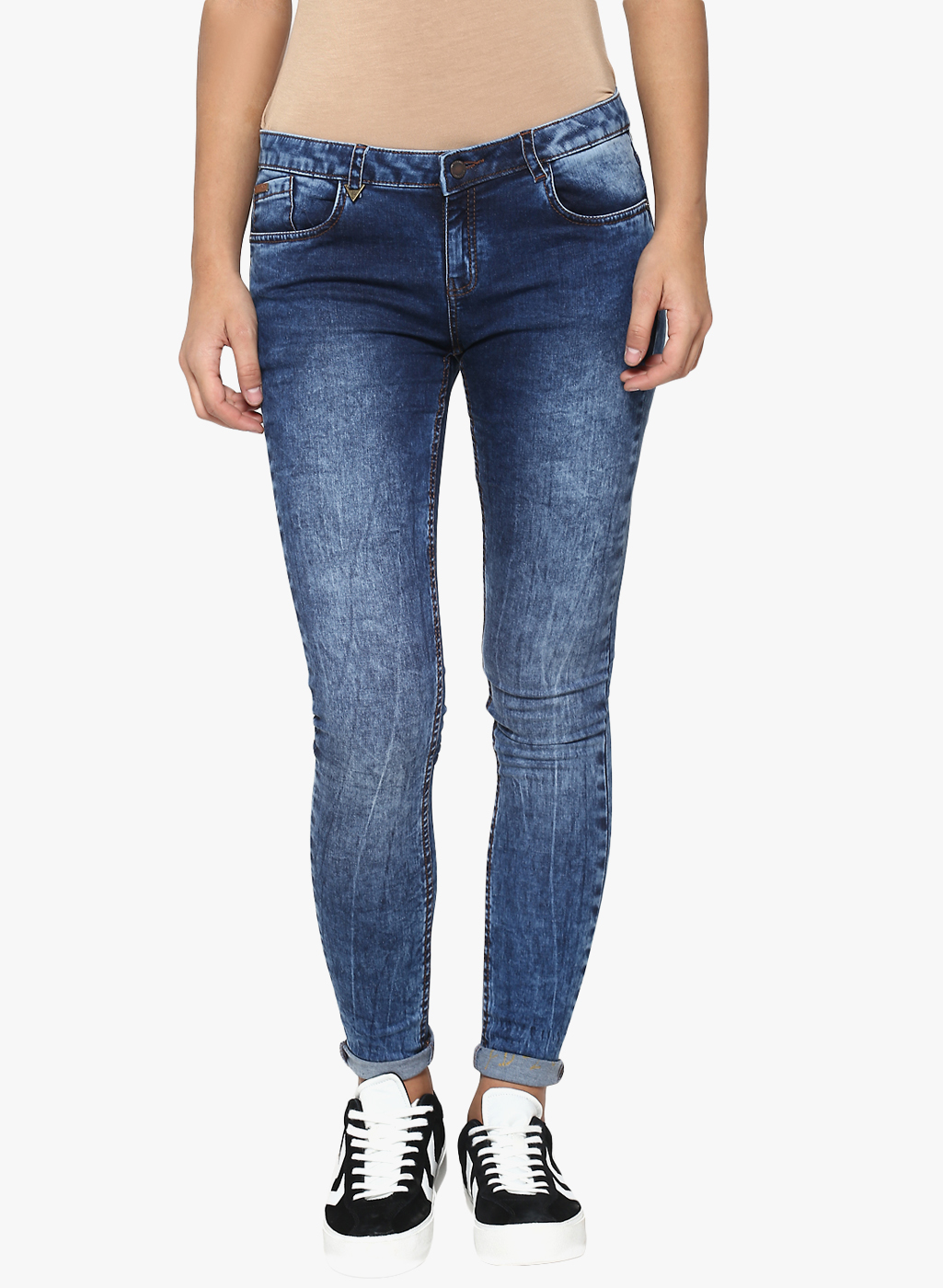 Crimsoune Club   Crimsoune Club Women's Solid Blue Jeans
