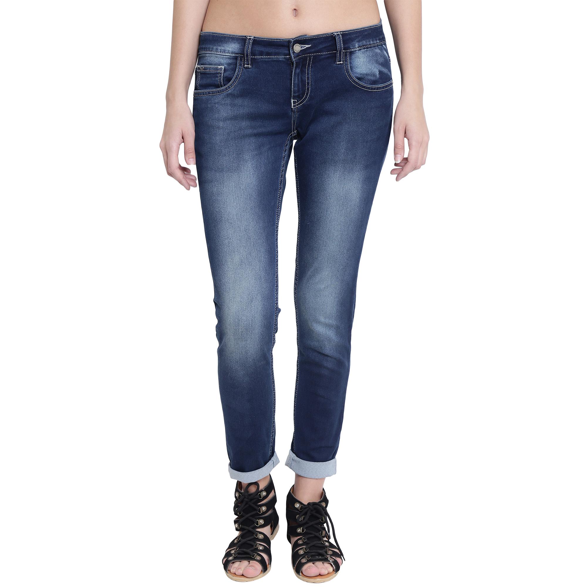 Crimsoune Club | Crimsoune Club Women's Blue Solid Jeans