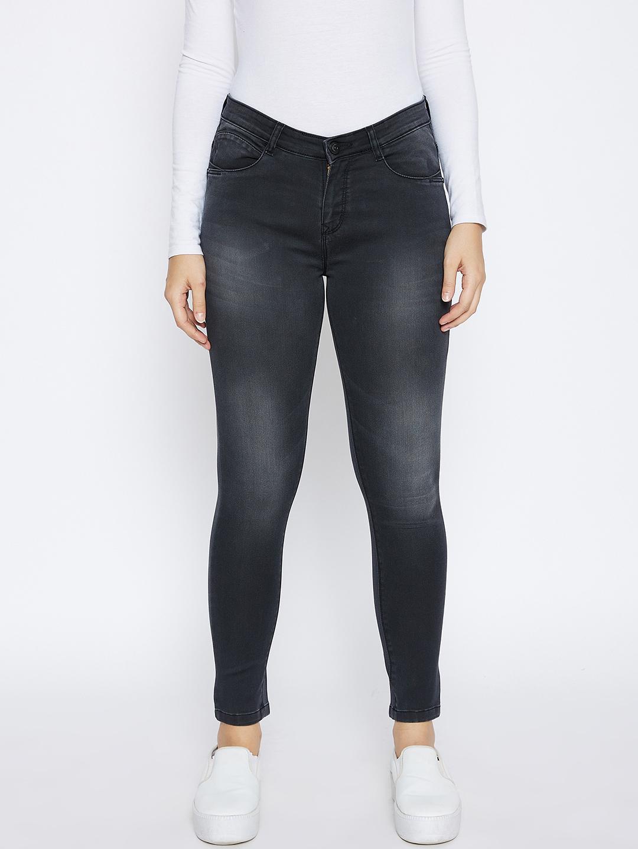 Crimsoune Club | Crimsoune Club Women's Black Solid Skinny Fit Jeans