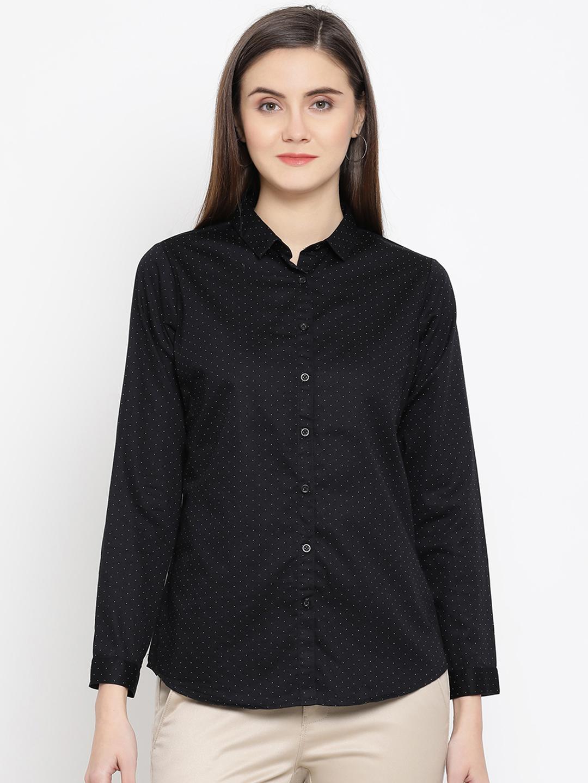 Crimsoune Club | Black Printed Casual Shirt