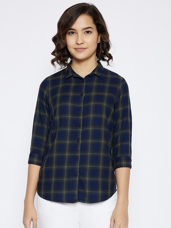 Crimsoune Club | Crimsoune Club Women's Olive Checked Shirt