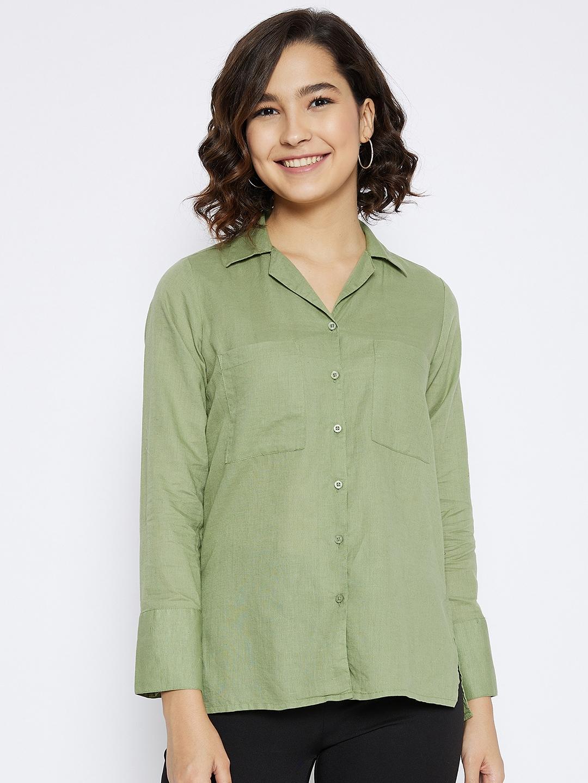 Crimsoune Club | Crimsoune Club Women's Green Solid Shirt