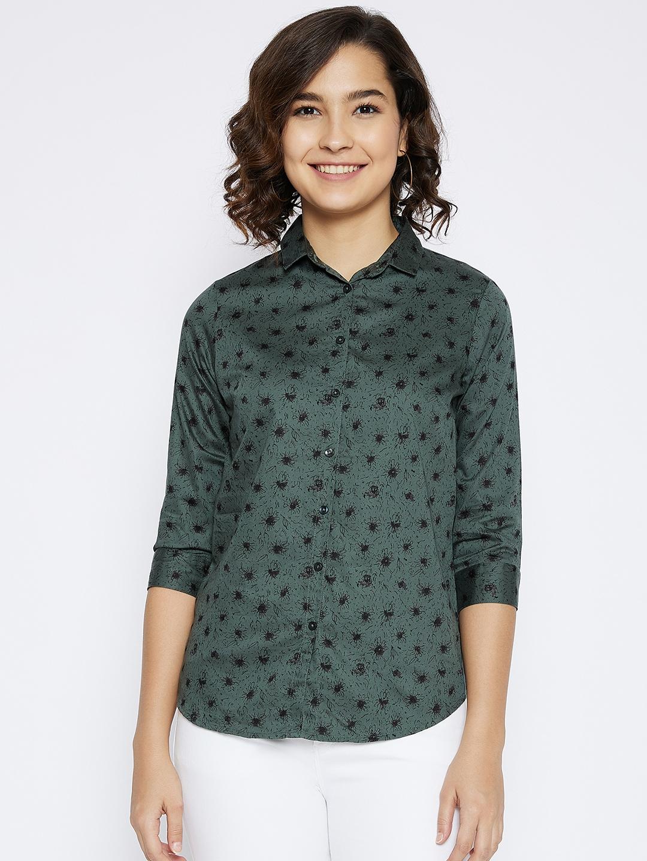 Crimsoune Club | Crimsoune Club Women's Green Printed Shirt