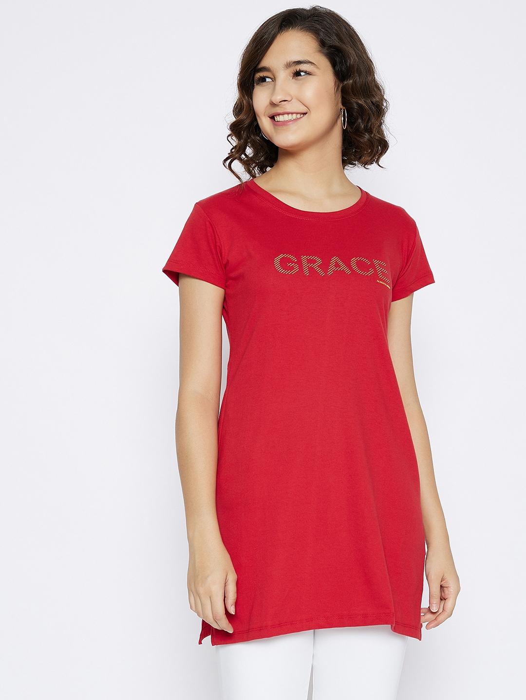 Crimsoune Club | Crimsoune Club Women's Red Printed T-shirt