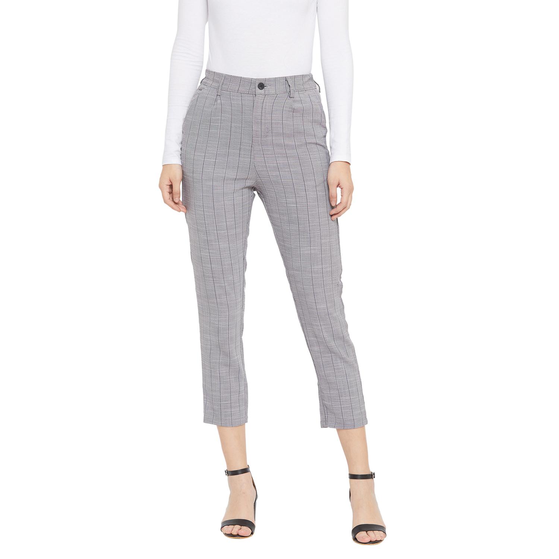 Crimsoune Club | Crimsoune Club Women's Grey Striped Trouser