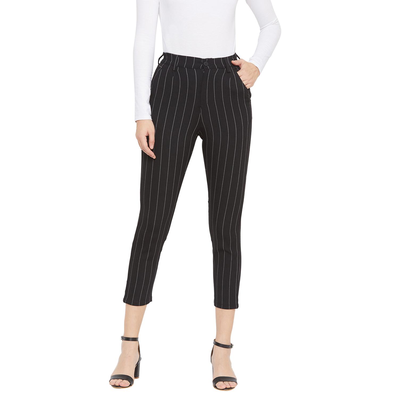 Crimsoune Club | Crimsoune Club Women's Black Striped Trouser