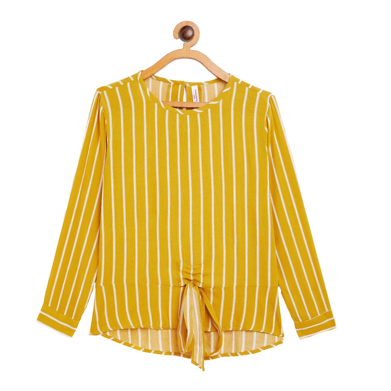 Crimsoune Club | Crimsoune Club Yellow Striped Girl's Top