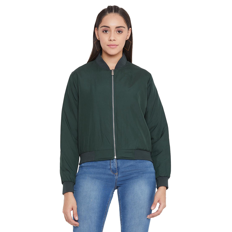 Crimsoune Club | Crimsoune Club Women's Green Solid Jacket