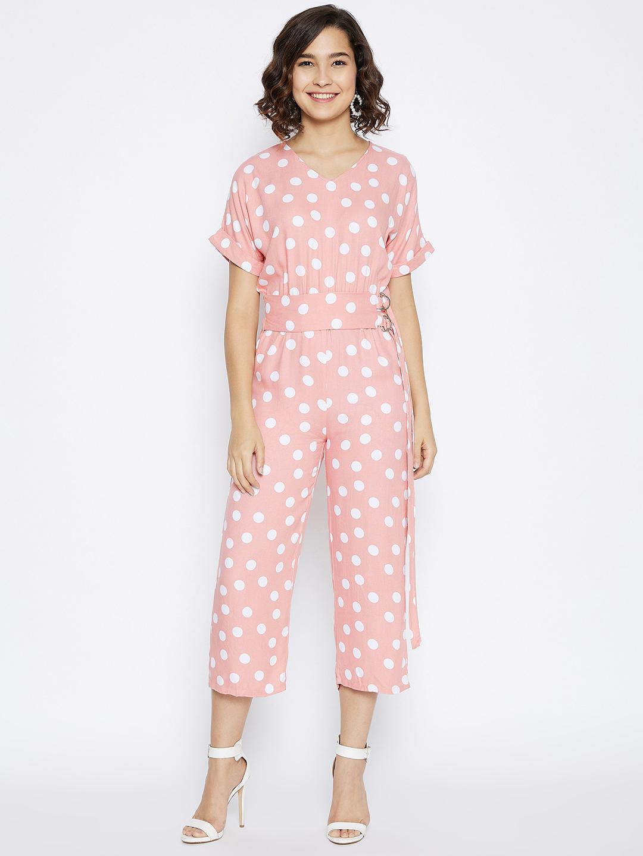 Crimsoune Club | Crimsoune Club Women's Peach Printed Jump Suit