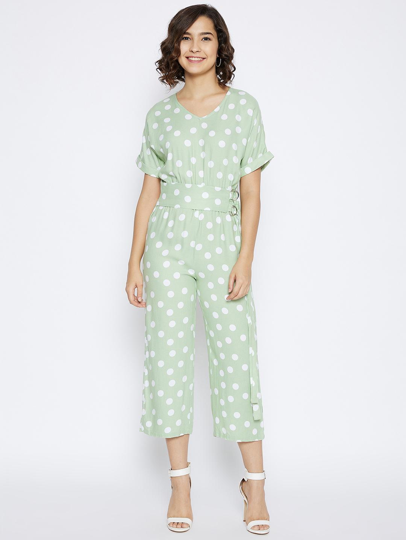 Crimsoune Club | Crimsoune Club Women's Green Printed Jump Suit