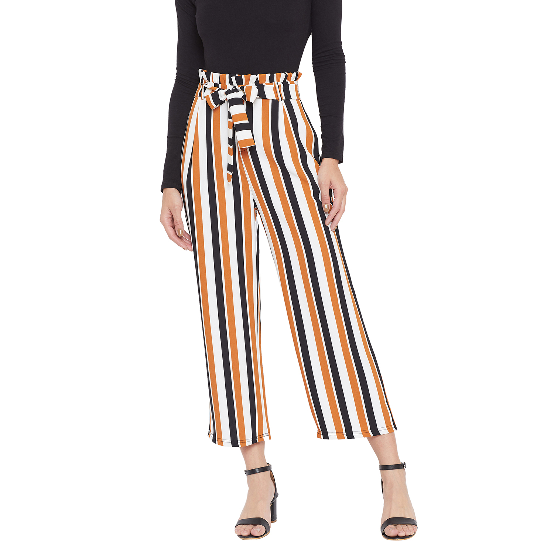 Crimsoune Club | Crimsoune Club Womens Yellow Striped Parallel Trousers