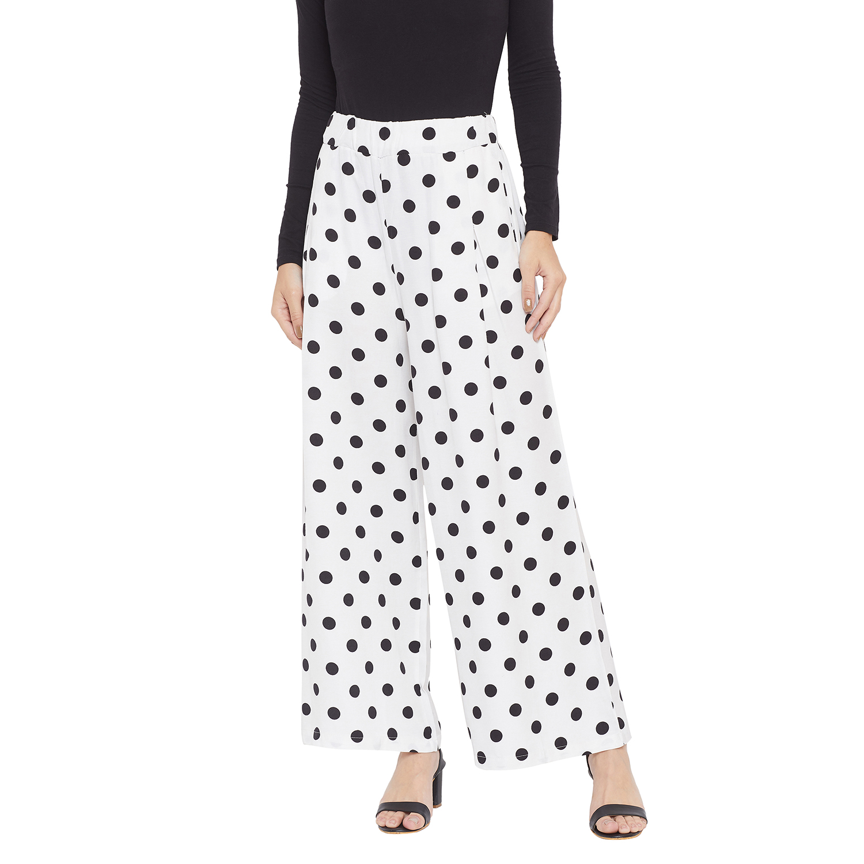 Crimsoune Club | Crimsoune Club Womens White Printed Parallel Trousers