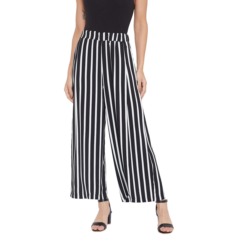 Crimsoune Club | Crimsoune Club Womens Black Striped Parallel Trousers