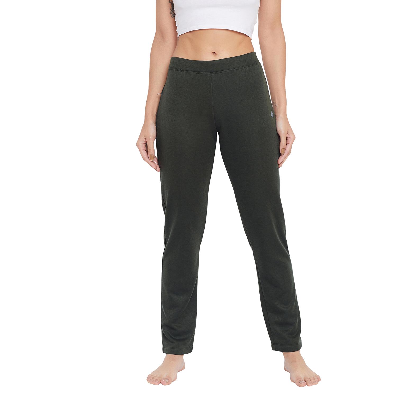 Crimsoune Club   Crimsoune Club Womens Olive Solid Track Pants