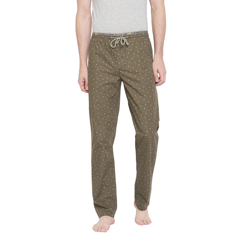 Crimsoune Club   Crimsoune Club Men's Olive Printed Lounge Pants