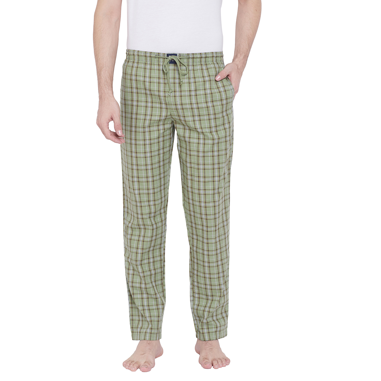 Crimsoune Club | Crimsoune Club Mens Checked Olive Lounge Pants