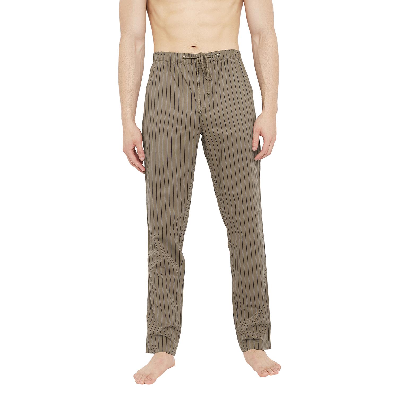 Crimsoune Club   Crimsoune Club Mens Striped Brown Lounge Pant