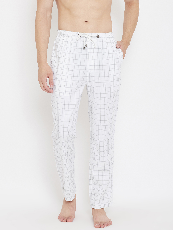 Crimsoune Club | Crimsoune Club Men's Checked White Lounge Pants
