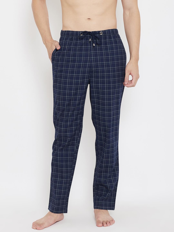 Crimsoune Club | Crimsoune Club Men's Checked Navy Blue Lounge Pants