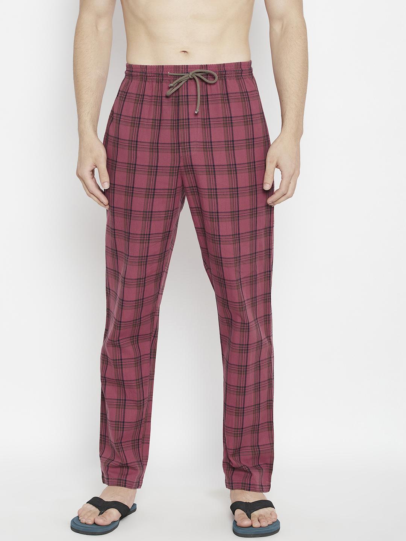 Crimsoune Club | Crimsoune Club Men's Red Checked Smart Fit Lounge Pants