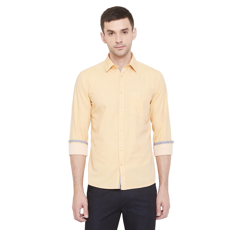 Crimsoune Club | Crimsoune Club Men's Yellow Solid Shirt