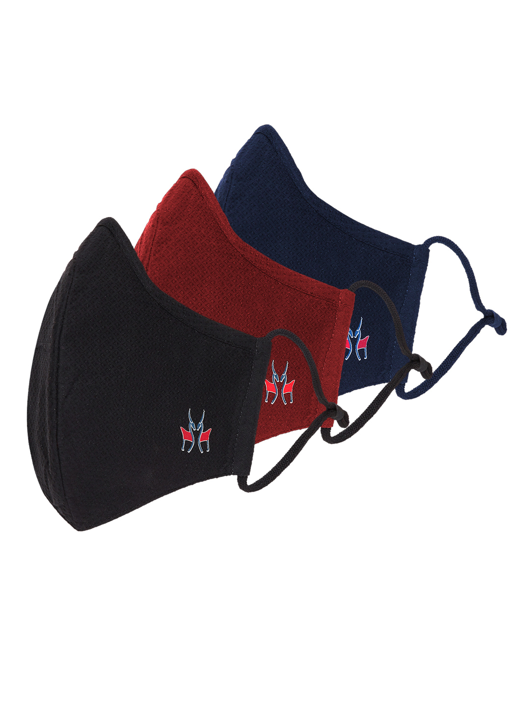 Crimsoune Club | Unisex Pack Of 3 Reusable 6 Layer Protective Outdoor Mask