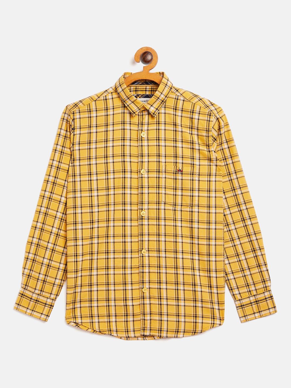 Crimsoune Club   Crimsoune Club Boy's Checked Yellow Shirt