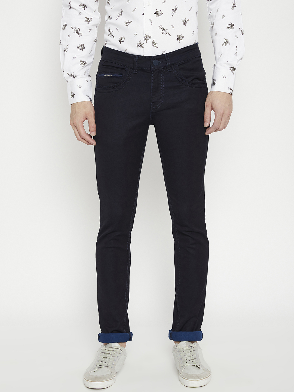 Crimsoune Club | Crimsoune Club Men's Dark Blue Solid Slim Fit Jeans