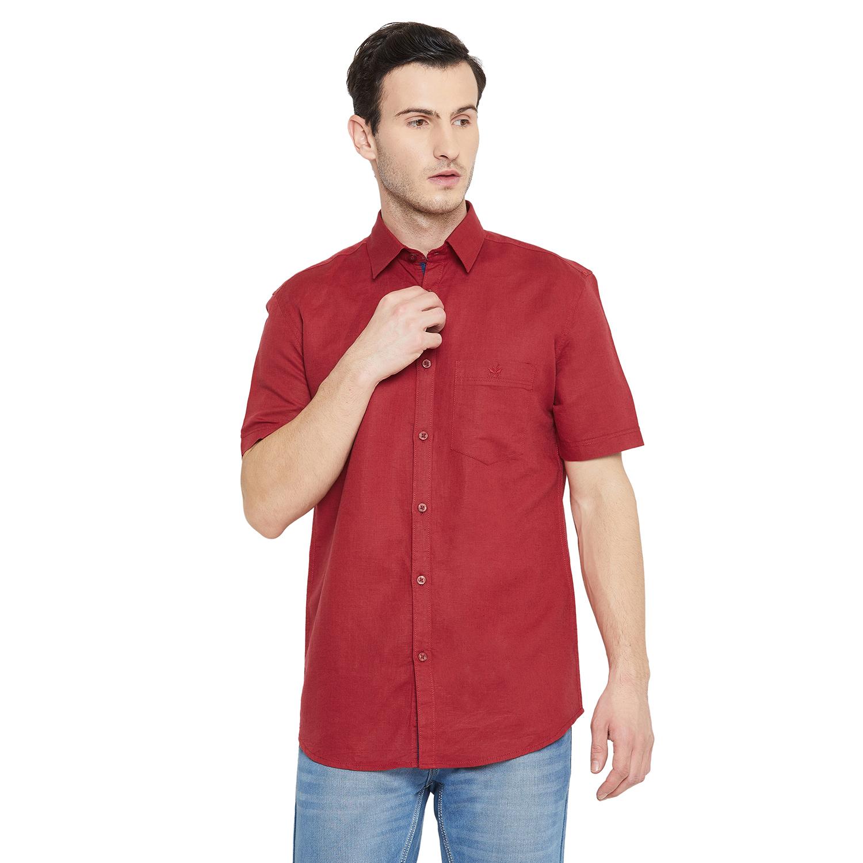 Crimsoune Club | Crimsoune Club Men's Red Solid Shirt