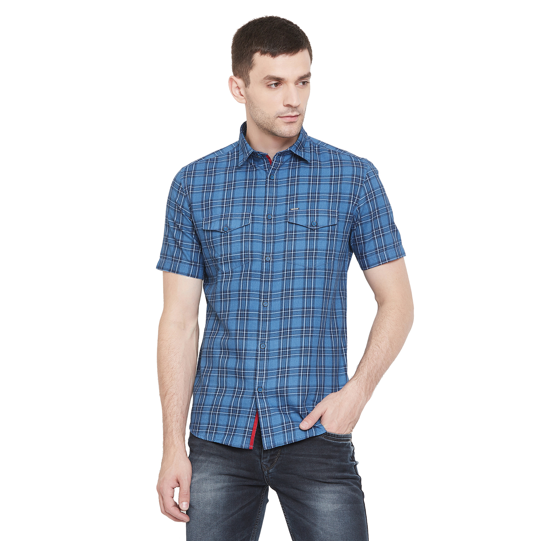 Crimsoune Club   Crimsoune Club Men's Blue Checked Shirt