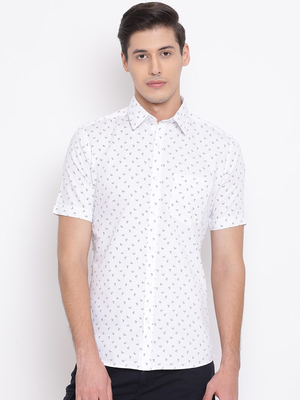 Crimsoune Club | Crimsoune Club Printed White Men's Shirt