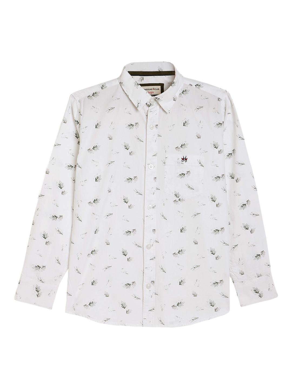 Crimsoune Club | Crimsoune Club Boy's White Printed Shirt