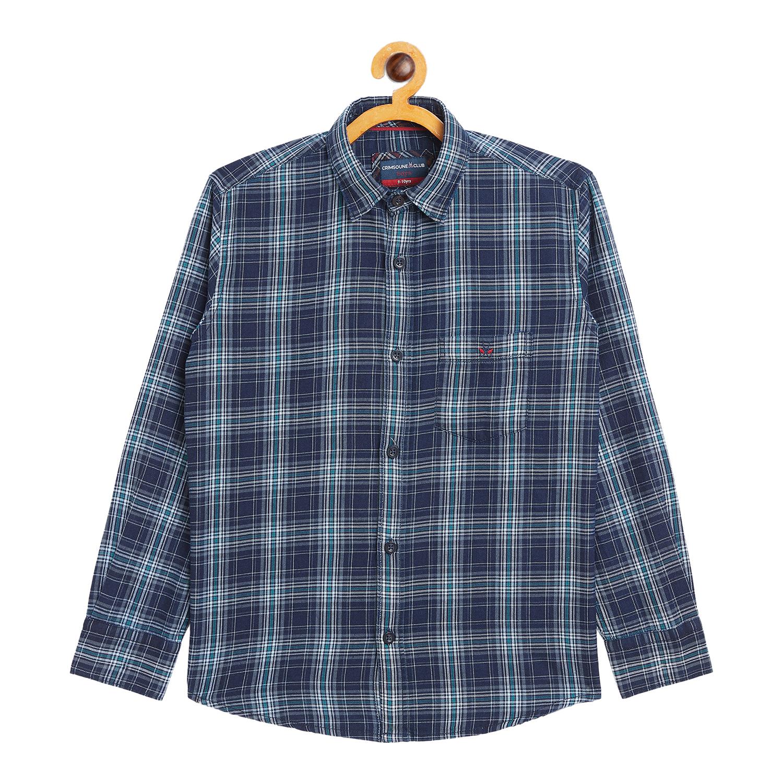Crimsoune Club | Crimsoune Club Boy's Blue Check Casual Shirt