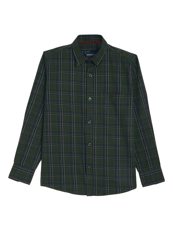 Crimsoune Club | Crimsoune Club Boy's Dark Green Checked Shirt