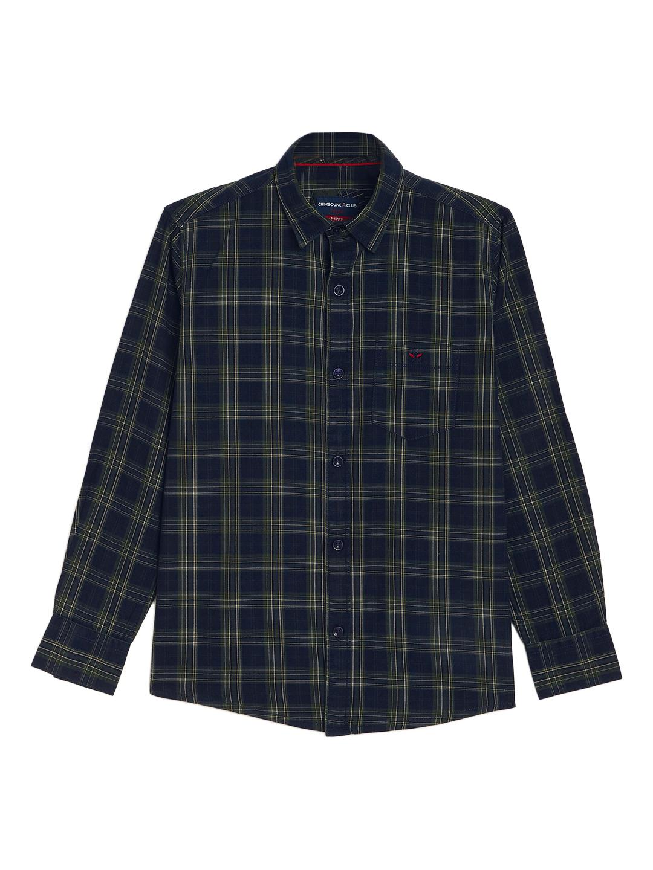 Crimsoune Club | Crimsoune Club Boy's Navy Blue Checked Shirt