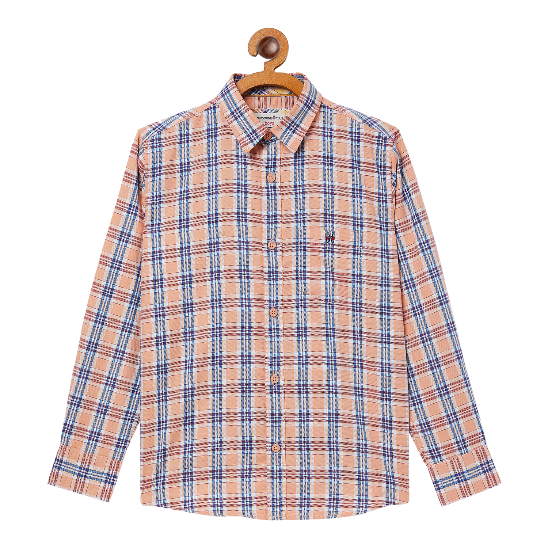 Crimsoune Club | Crimsoune Club Boy's Checked Pink Shirt