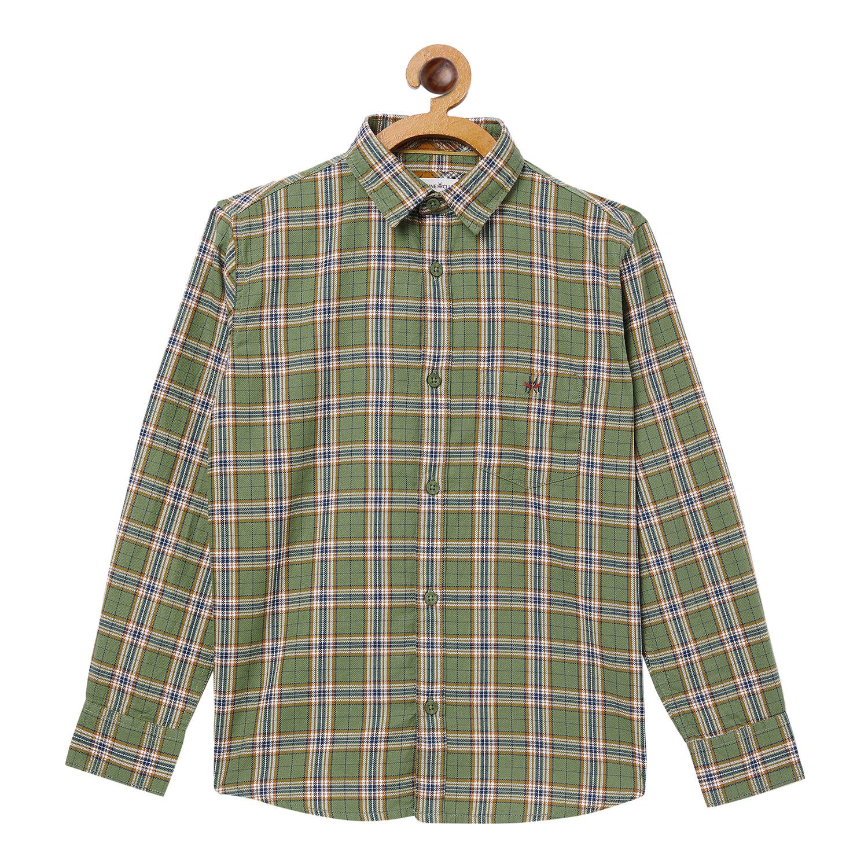 Crimsoune Club | Crimsoune Club Boy's Checked Green Shirt