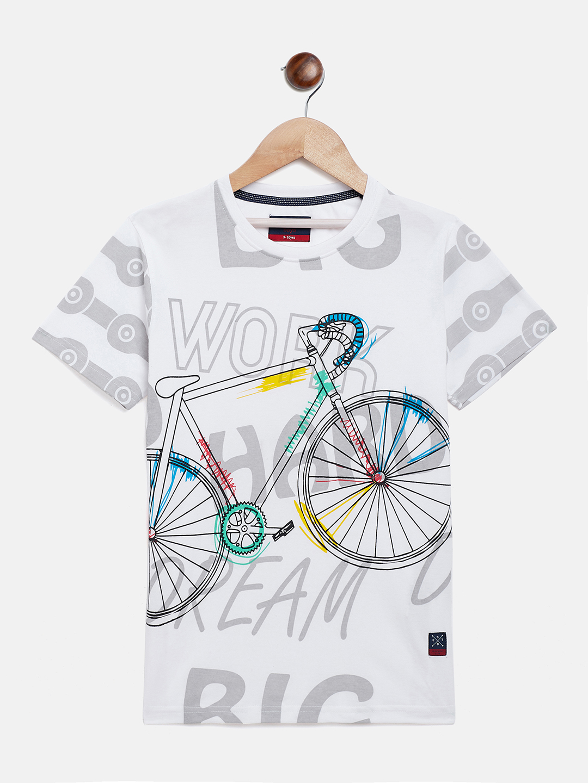 Crimsoune Club | Crimsoune Club Boy's Printed White T-shirt