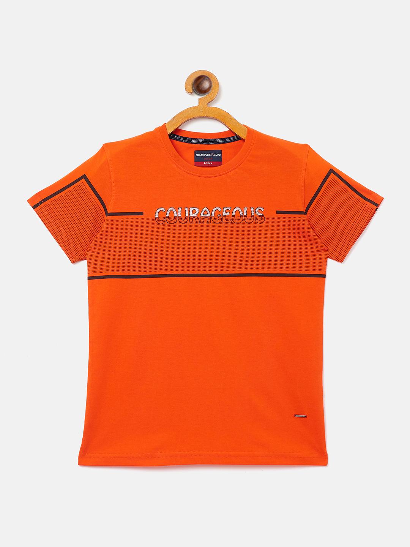 Crimsoune Club | Crimsoune Club Boy's Printed Orange T-shirt