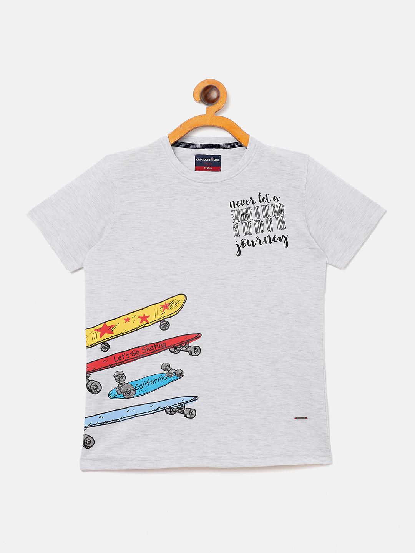 Crimsoune Club | Crimsoune Club Boy's Printed Grey T-shirt