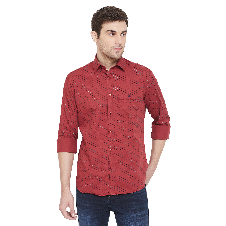 Crimsoune Club | Crimsoune Club Men's Red Printed Shirt