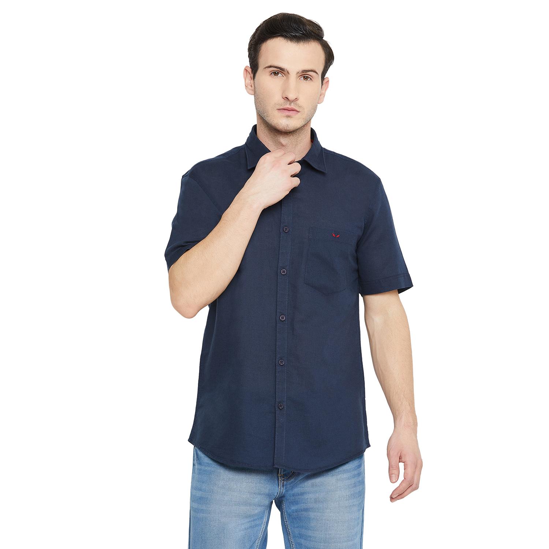 Crimsoune Club | Crimsoune Club Men's Navy Blue Solid shirt