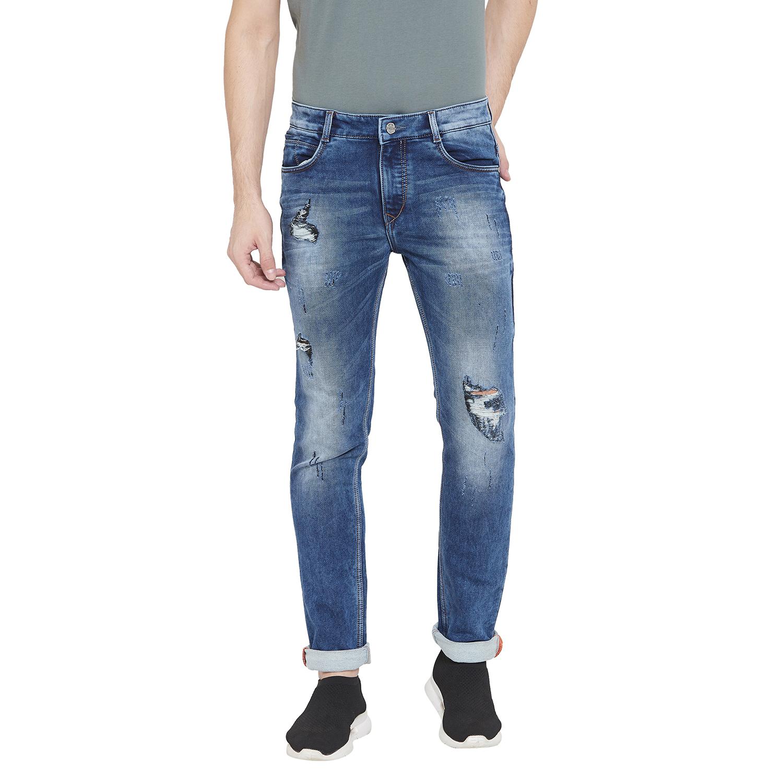 Crimsoune Club | Crimsoune Club Men's Solid Blue Jeans