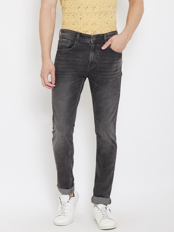 Crimsoune Club   Crimsoune Club Men's Solid Grey Jeans