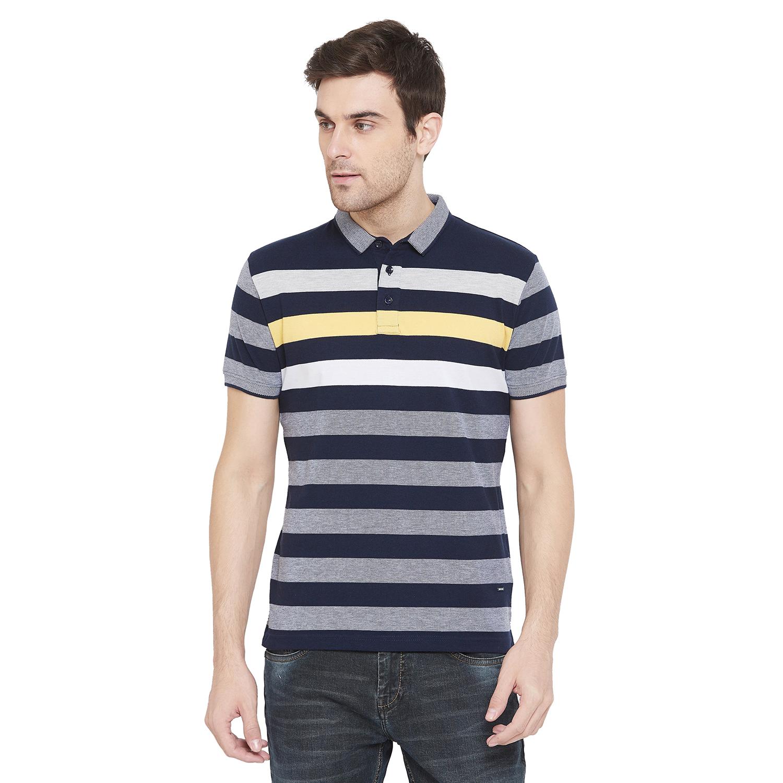 Crimsoune Club   Crimsoune Club Men's Navy Blue Striped T-shirt